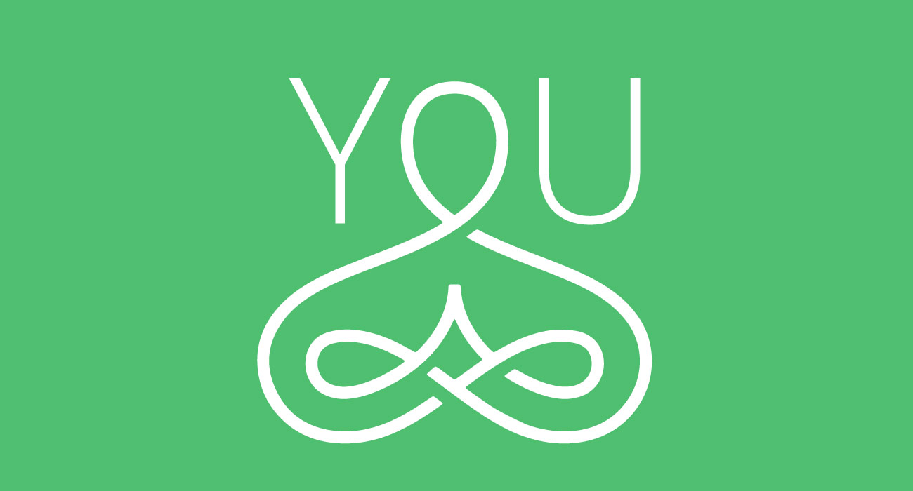 """You"" icon with outline image of a person with praying hands"